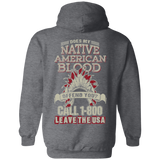 Native Inspired Blood Call 1800 Hoodies - Back Print