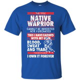 Native Inspired Blood Sweat Tears