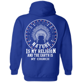 Native Inspired Earth Is My Church Hoodies - Back Print