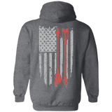 Native Inspired Arrows Flag Hoodies - Back Print
