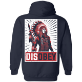 Native Inspired Disobey Spear Hoodies - Back Print