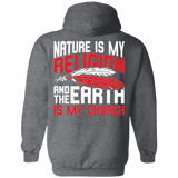 Red Nature Is My Religion Hoodies - Back Print