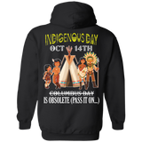 Native Inspired Indigenous Day Hoodies - Back Print