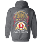 The Secrets Of WW2 Heroes Hoodies - Back Print