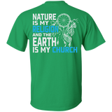 Blue Nature Is My Religion - Back Print