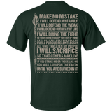 Spear Make No Mistake - Back Print