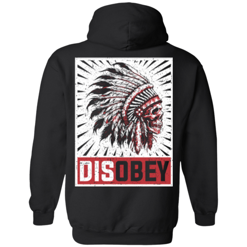 Disobey Skull Chief Hoodies - Back Print