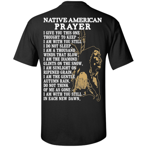 Gold Native Inspired Prayer - Back Print
