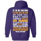 Native Inspired Nature Family Hoodies - Back Print