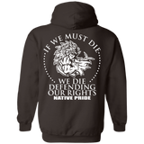 Die Defending Rights Hoodies - Back Print