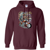 Native American Indian With Motorcycle Hoodies - Front Print