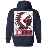 Native Chief Disobey Hoodies - Back Print