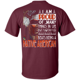 Nothing Beats Being A Native American - Back Print