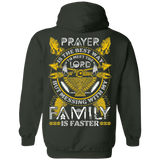 Prayer Is The Best Way Hoodies - Back Print