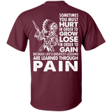 Native Inspired Learned Through Pain - Back Print