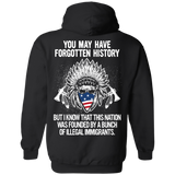 Native Inspired Forgotten History Hoodies - Back Print