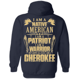 I AM A Cherokee Hoodies - Back Print