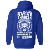 Native Inspired Immigrants Hoodies - Back Print