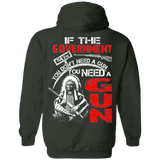 Native American Don't Need Gun Hoodies - Back Print