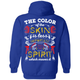 The Color Of The Skin Hoodies - Back Print