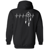Native Inspired Heart Beating Dream Catcher Hoodies - Back Print