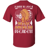 Native American President - Back Print