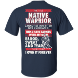 Native Inspired Blood Sweat Tears - Back Print