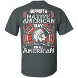 Support A Native American Day - Back Print