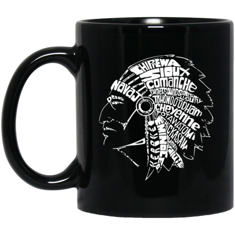 Native Headdress Mug