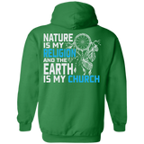 Blue Nature Is My Religion Hoodies - Back Print