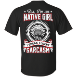 Native Inspired Girl Sarcasm - Back Print