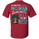 A Native Woman - Back Print