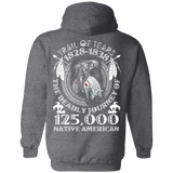 Remember Native American History Hoodies - Back Print