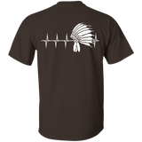 Native Inspired Heart Beating Headdress - Back Print