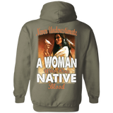 Native Woman Blood Hoodies - Back Print