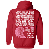 Native Inspired Mother Poem Hoodies - Back Print