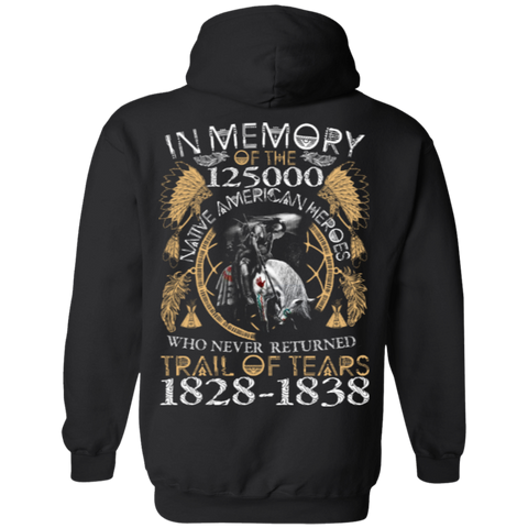 Native American Heroes Hoodies - Back Print