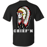 Native Skull Chiefin - Back Print