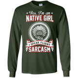 Native Inspired Girl Sarcasm
