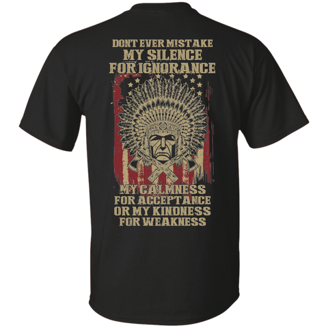 Native Inspired Kindness For Weakness - Back Print