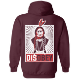 Native American Disobey Hoodies - Back Print