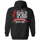 Stand Up For What's Right Hoodies - Back Print