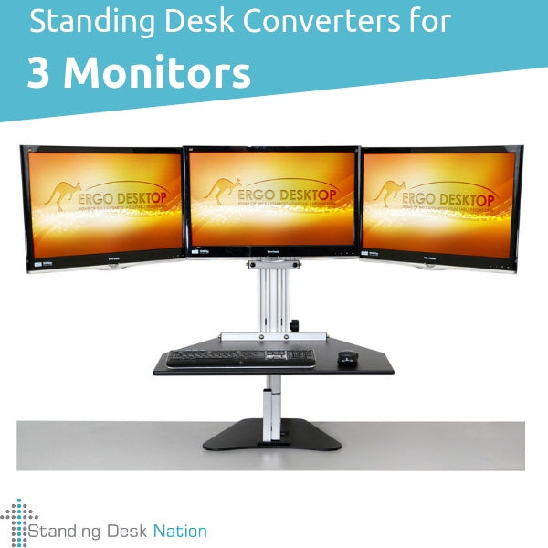 3 Monitor Standing Desks