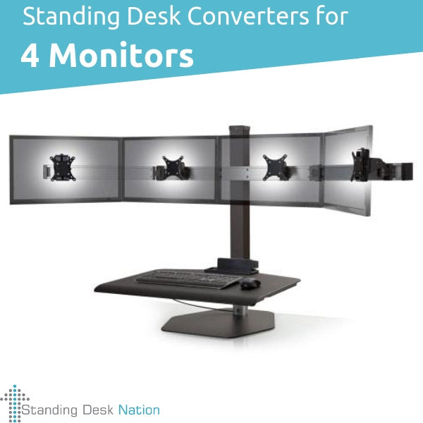 4 Monitor Standing Desks