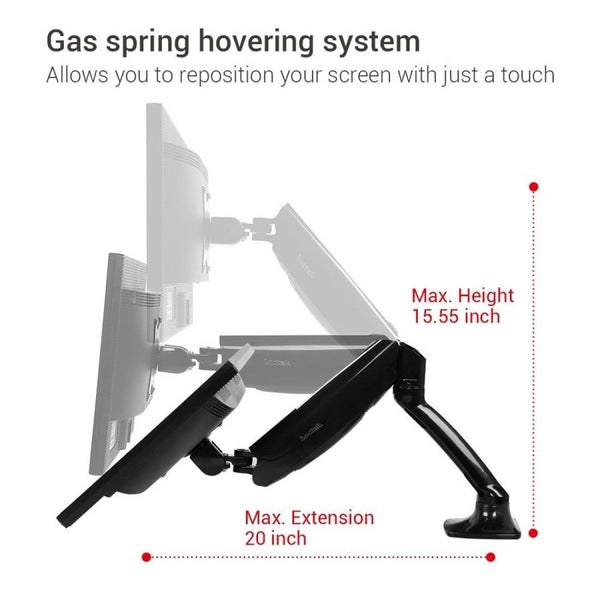 Loctek D5 Monitor Arm Max Height Max Extension