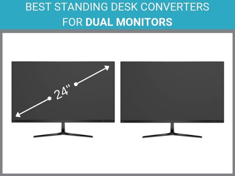 Best Standing Desk Converters for Dual Monitors by Standing Desk Nation