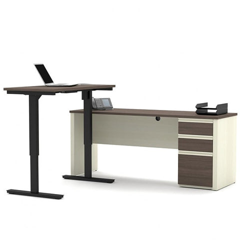 Bestar Prestige + L-Desk White Chocolate & Antigua