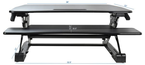VIVO DESK-V000DB Dimensions