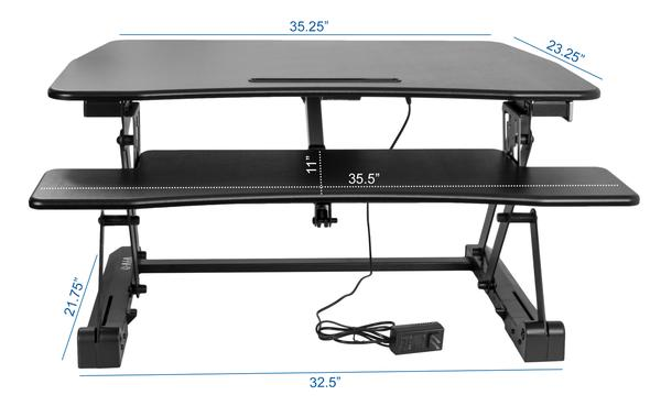 VIVO DESK-V000EB Electric Dimensions