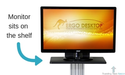 Ergo Desktop Kangaroo Desk Monitor Shelf